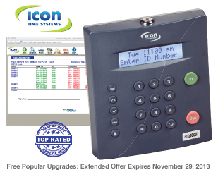 Icon RTC-1000 2.0 Web Enabled Time Clock