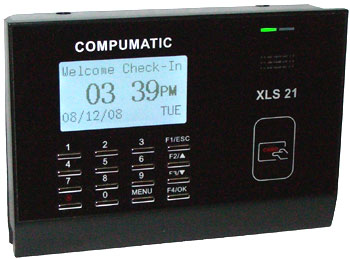 COMPUMATIC XLS 21 PIN ENTRY and PROXIMITY BADGE TIME CLOCK SYSTEM