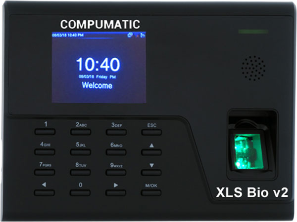 Compumatic XLS Bio v2 Biometric Fingerprint Time Recorder Clock